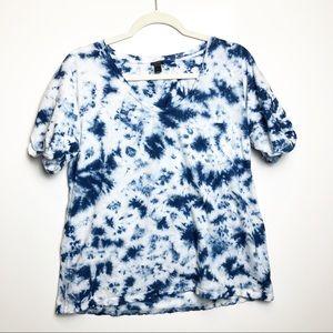 EUC J. Crew Blue Tie Dye T-Shirt M